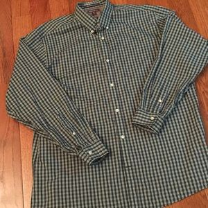 Eddie Bauer Green Check Shirt (EWC) size XL